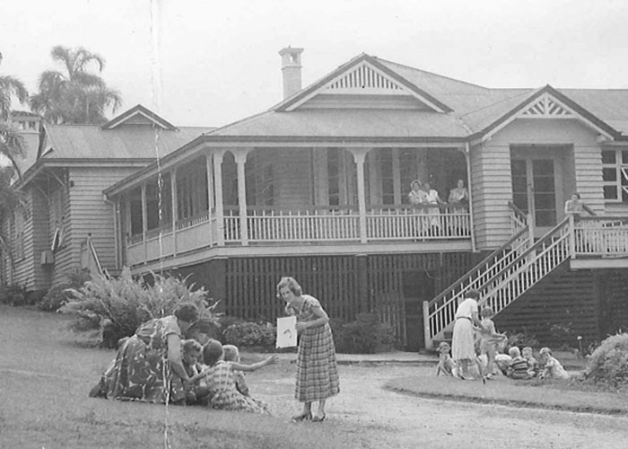 Classes began at Bowen House in May 1955