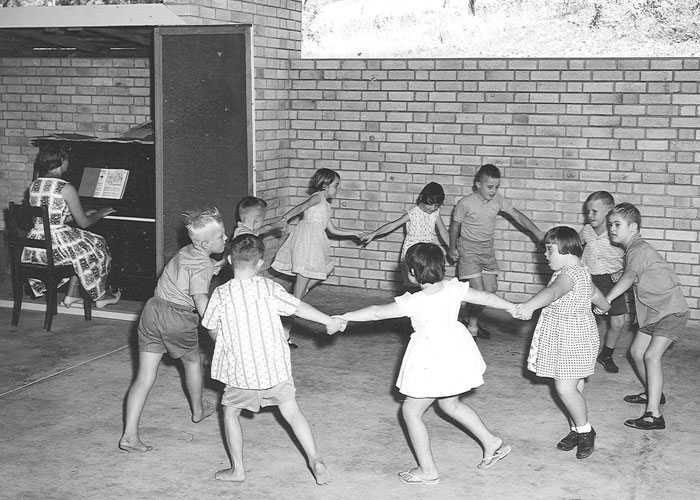 Children play at a school in Townsville circa 1960